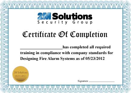 FireAlarmDesign_Training_Certificate – 2m Solutions Inc.